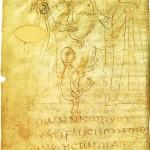 wikipediaからフレデガー(偽?)の年代記の一葉(8世紀)。パリのフランス国立図書館所蔵