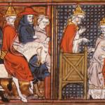 14世紀の『ゴドフロワ・ド・ブイヨン物語』から、ウルバヌス二世を描いた挿絵。