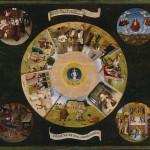 ヒエロニムス・ボスの《七つの大罪と四終》(1485年)