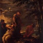 サルヴァトール・ローザ(17世紀)の≪デモクリトスとプロタゴラス≫。右側の人物がプロタゴラスらしいのだが……。