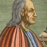 wikipediaより、16世紀の逸名画家による線彫りでのアンセルムス